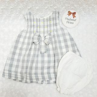 Zara grey baby girl dress