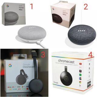 Google Home (Mini, Chromecast 2nd & 3rd Gen)