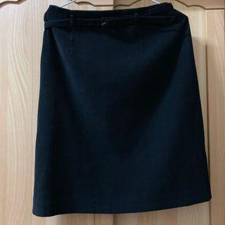 🚚 小資女孩👧氣質A字裙含腰帶(黑/咖)#半價衣服市集