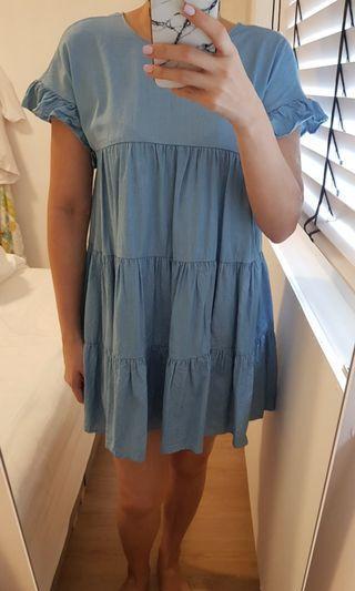 Washed Babydoll Dress