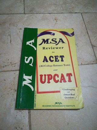 MSA Reviewer for All College Entrance Tests and UPCAT
