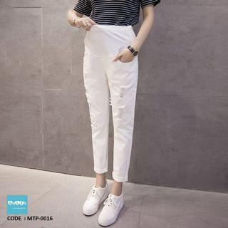 White Maternity Jeans MTP-0016