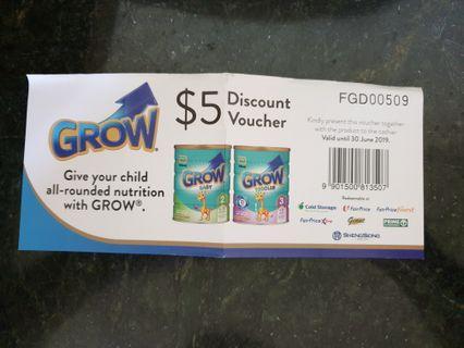 Abbott Grow $5 voucher