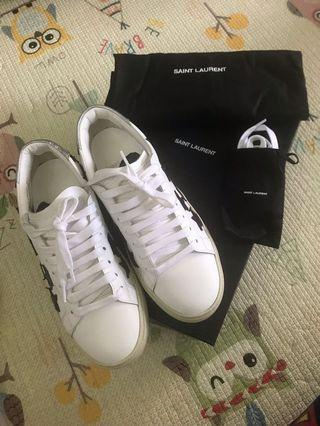 Ysl Saint Laurent sneakers 黑白星星波鞋