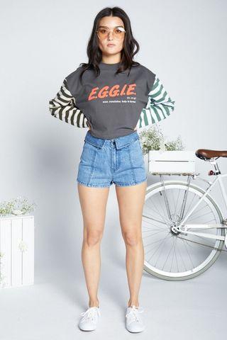 Eggie Oxford Denim Shorts