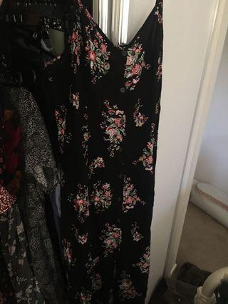 Supre floral maxi slip dress buttoned