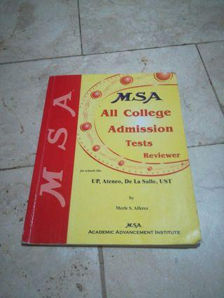 FOR CETs: MSA All College Admission Tests Reviewer