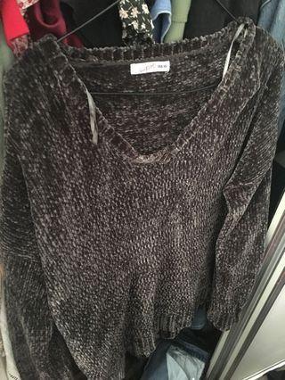 Green soft knit
