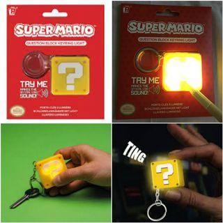 Super Mario Question Block Keychain (Light & Sound)