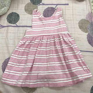 🚚 (降價啦)Gap粉紅線條連身裙