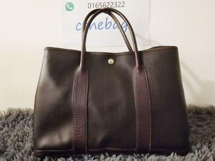 authentic Hermes Garden Party Leather