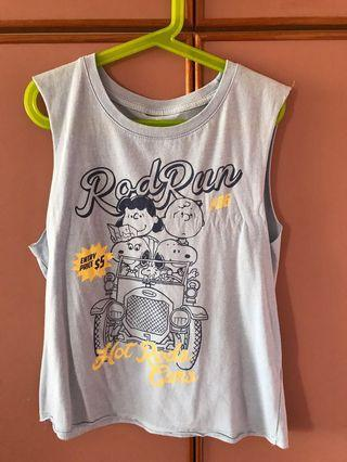 🚚 Cotton On racer round neck Snoopy tank top
