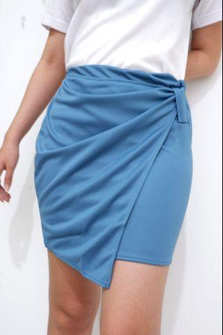 Blue Skirt Rok Biru Pendek Kantor