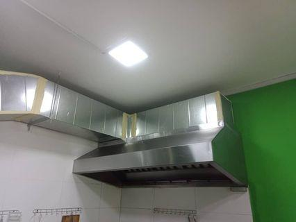 Kitchen hood exhaust fan