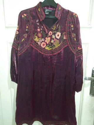 #ramadansale Maroon Beautiful Dress