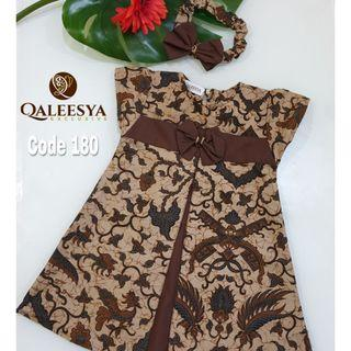 QALEESYA BATIK KIDS DRESS - PO