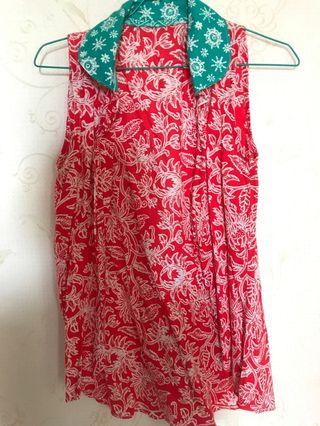 Outer batik sleevless