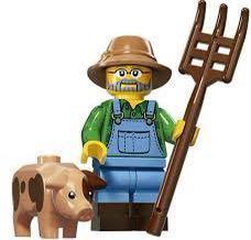 🚚 LEGO series 15 - Farmer with pig