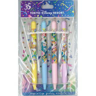 Japan Imported / Tokyo DisneyLand : Frixion Pen Series : Tokyo Disney Resort disney 35th anniversary Pen Set