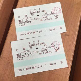 JR車票兩張(已使用)