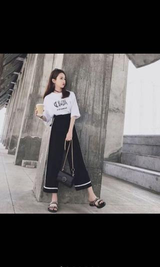 BN Black with White Outlines Culottes