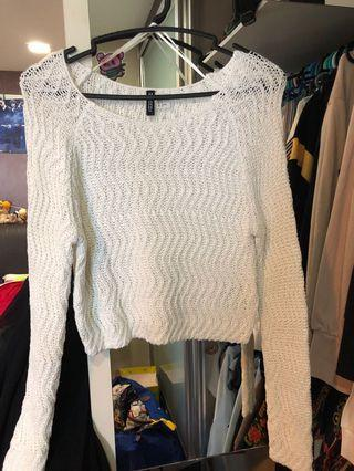 White Knitted Long Sleeve