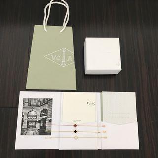 配件齊全🎉歡迎驗貨 VCA Van Cleef & Arpels 梵克珠寶 mini 手鏈 黑瑪瑙 紅玉髓 白貝殼 禮物 情人節