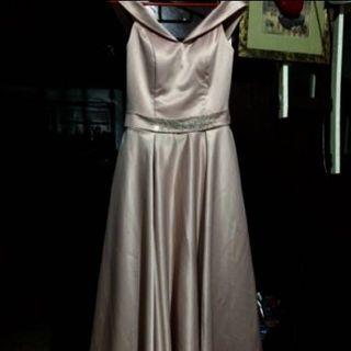 Blush Pink Long Gown for rent