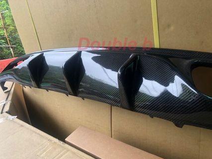Double b BENZ W205 2門 Coupe AMG 卡夢 Agence Power 後下巴 密合度百分百