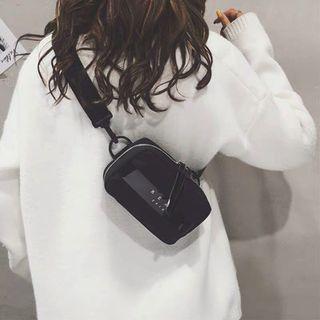 Korean style detachable purse bag with zip