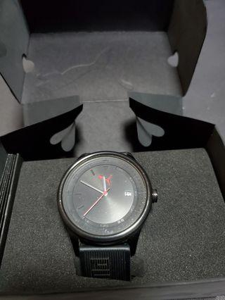 Puma 44mm black rubber strap