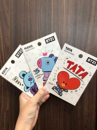 🚚 BT21 deco stickers 💜