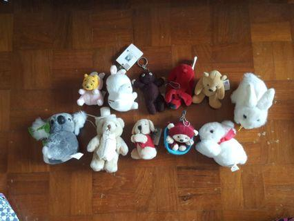Vintage Mini Plush Toys Bundle (Misc)