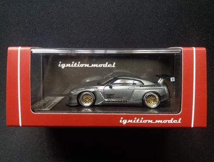 1/64 IG Nissan GT-R (R35) Pandem/Rocket Bunny (Titanium Grey)