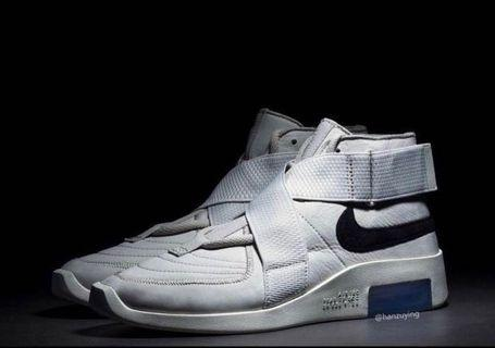 US 10, 10.5 Nike fear of god fog air raid white platinum