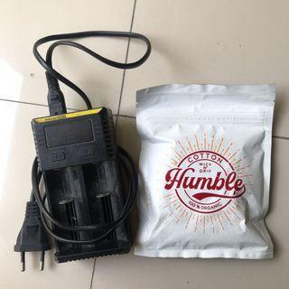 Charger nitecore i2 & cotton humble