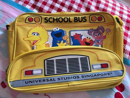 Sesame Street school bus sling crossbody bag