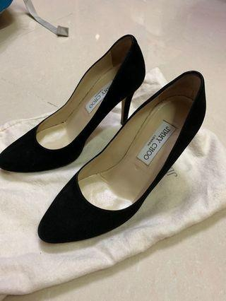 Jimmy Choo black heels (黑色麂皮)