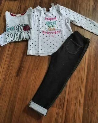 Uniqlo legging and poney Top
