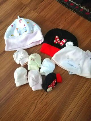 Baby Hats,mittens and blanket