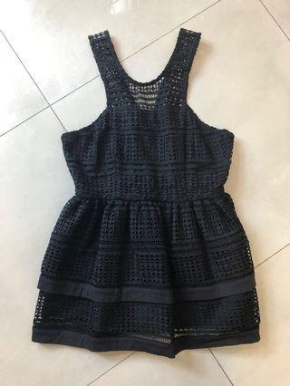 Osmose black babydoll top