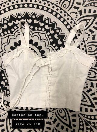 Tie up cropped top