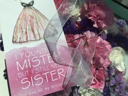 Wedding 姊妹禮物。手鏈 card 盒