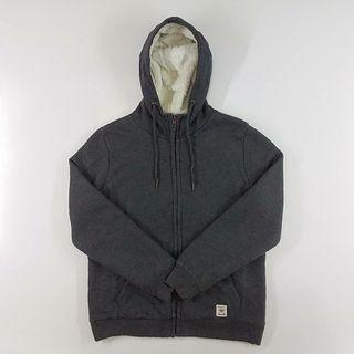 Hoodie Zipper Indigo Bank Sherpa