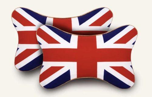 汽車頸枕一對_英國國旗款
