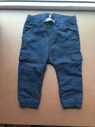 BNWT Baby Boy Navy Blue Trousers 9-12 mths