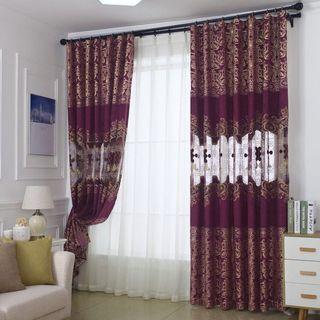 Custom size Embroidery hollow curtain