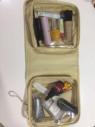 Travel or skin care / makeup pouch