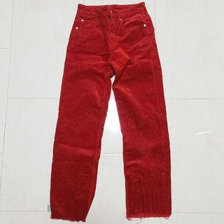H&M red corduroy trousers