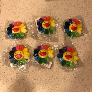 Takashi Murakami Flower Pins